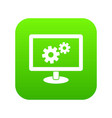 monitor settings icon digital green vector image vector image