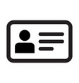 name icon male user person profile avatar symbol vector image vector image