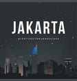 night jakarta vector image vector image