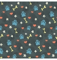 pattern with dogs paw prints vector image vector image