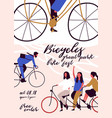 poster flyer or invitation template for bicycle vector image
