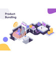 product bundling modern flat design vector image