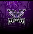 pterodactyl esport mascot logo design vector image