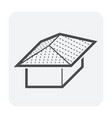 roof shape icon vector image
