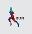 run logo template design vector image