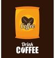 sack coffee bean graphic vector image