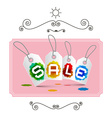 Sale Labels - Tags on Pink Background in Retro vector image vector image