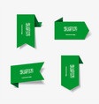 saudi arabian flag stickers and labels vector image vector image