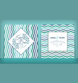 save date wedding invitation double-sided vector image vector image