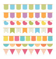 seamless bunting vector image vector image
