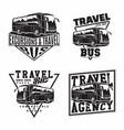 set bus travel company logo designs vector image vector image