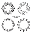 Set of round frames vector image vector image