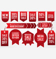 set price tag discount vector image vector image