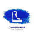 skating shoe icon - blue watercolor background vector image