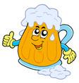 smiling cartoon beer vector image