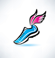 sneakers with wings outlined sport shoes vector image vector image