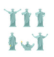 statue of liberty set poses attractions america vector image vector image
