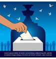 thailand voting concept banner vector image