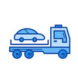 tow truck line icon vector image vector image