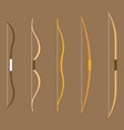 type bow archery collection vector image