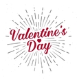Valentine s Day text and lettering vector image vector image