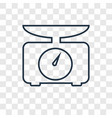 Weight concept linear icon isolated on