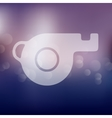 whistle icon on blurred background vector image