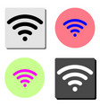 wi-fi flat icon vector image vector image