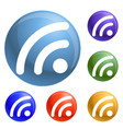 wifi signal icons set vector image vector image