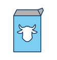 milk carton cow vector image