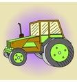 Tractor Pop art vector image