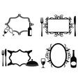 Blank menu frames set vector image