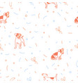 dog seamless christmas pattern vector image