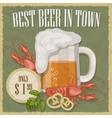 Retro of beer free label vector image