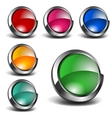 3d blank icons set vector image vector image