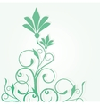 Abstract background with green flowers vector image vector image