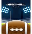 american football realistic theme eps 10 vector image