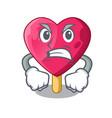 angry heart shaped ice cream the cartoon vector image