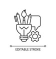 artistic thinking linear icon vector image