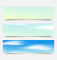 banners headers blue clouds set vector image vector image