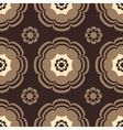 beige and brown flowers vector image vector image
