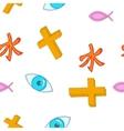 Beliefs pattern cartoon style vector image vector image