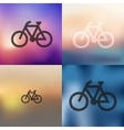 bicycle icon on blurred background vector image