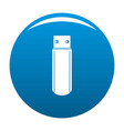big flash drive icon blue vector image vector image