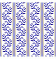 blue and white seamless pattern with floral vector image vector image