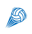 blue volleyball move vector image vector image