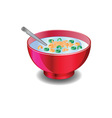 Bowl of cereal vector image vector image