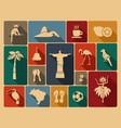 brazilian icons vector image vector image