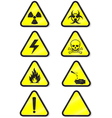 Chemical warning vector image