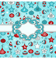 Christmas pattern with with Frame vector image